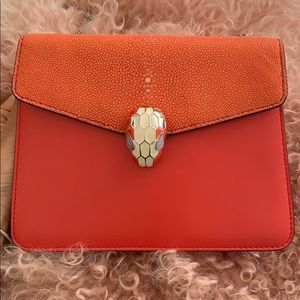 Bvlgari serpenti forever bag red